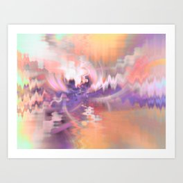 Cherry Blossoms Abstract Art Print