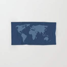 Denim Map Hand & Bath Towel