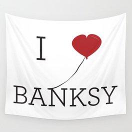 I heart Banksy Wall Tapestry