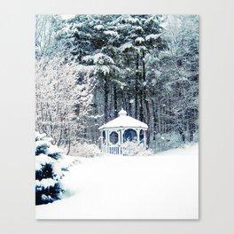 Snowy Gazebo Canvas Print