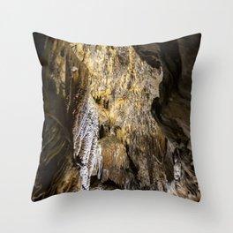 Stalactite and Stalagmite Throw Pillow