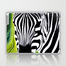 Green Black and White Zebra Laptop & iPad Skin