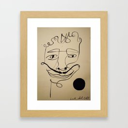 oneline Framed Art Print