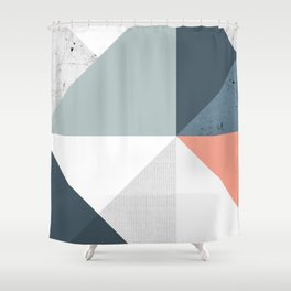 Modern Geometric 12 Shower Curtain