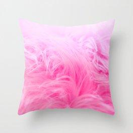Pink Fur Pattern Throw Pillow