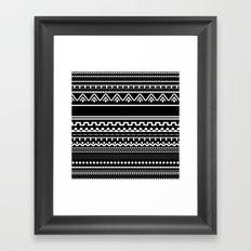 Graphic_Black&White #6 Framed Art Print