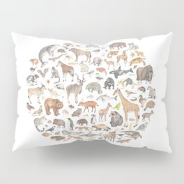 100 animals Pillow Sham