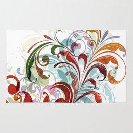 Floral Art Design Rug