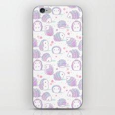 Spring Hedgehog Pattern iPhone Skin