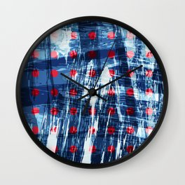 dots on blue ice Wall Clock