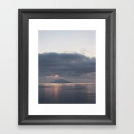 sunrise over the sea, sicily Framed Art Print