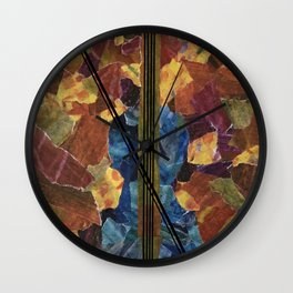 Blue Violin Wall Clock