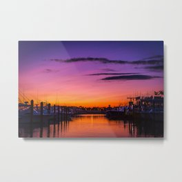 Ocean City, Maryland Sunset Metal Print