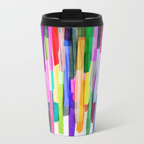 Colorful Stripes 4 Metal Travel Mug