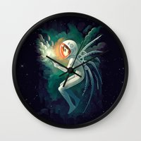 contact Wall Clocks featuring Contact by Freeminds