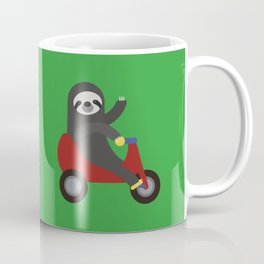 Sloth on Tricycle Coffee Mug