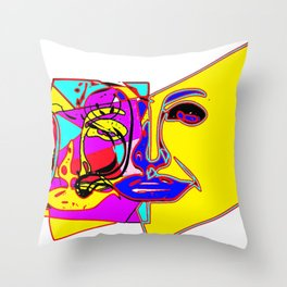 Feel my colors Throw Pillow