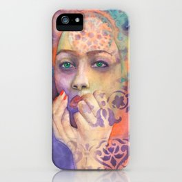 Queen Arabela with Blue eyes iPhone Case