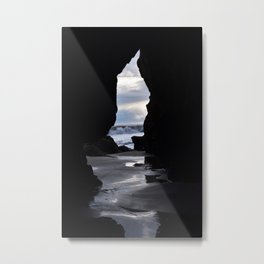 Cave at El Matador State Beach Metal Print