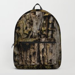Old Wood Close up Backpack