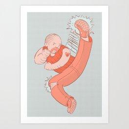 Jump Kick to the Heart Art Print