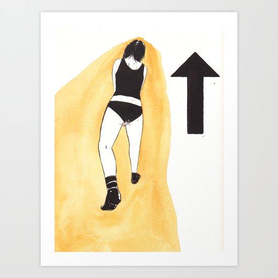 that-a-way Art Print