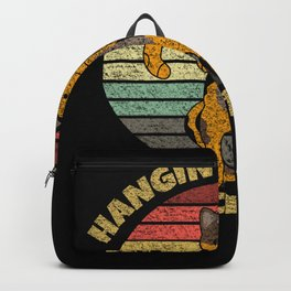 Hangin' in There Since 1960 Cute Kitty Cat Retro Sunset Backpack