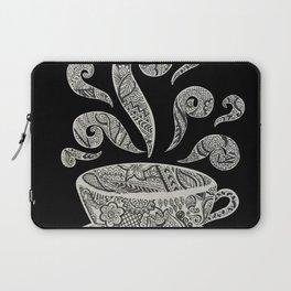 But first, Coffee - tea coffee lover zentangle Laptop Sleeve