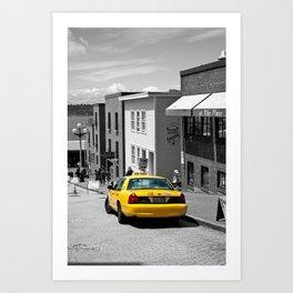 Yellow Cab Art Print
