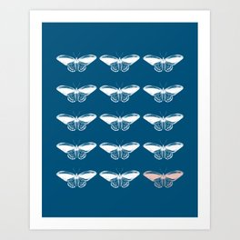 Butterflies in Blue Art Print