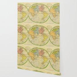 Vintage World Map 1798 Wallpaper