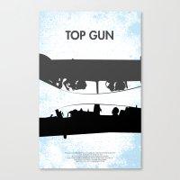 top gun Canvas Prints featuring Top Gun Communicating  by NotThatMikeMyers