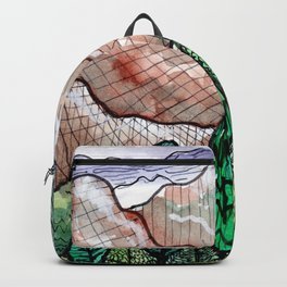 landscape forest montain pines Backpack