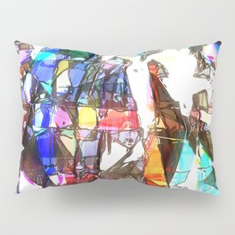 Light Streaming Through Stained Glass Pillow Sham