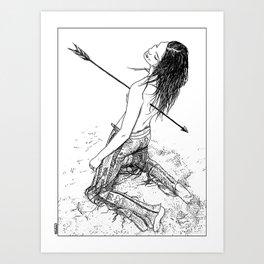 asc 156 - La flèche noire Art Print