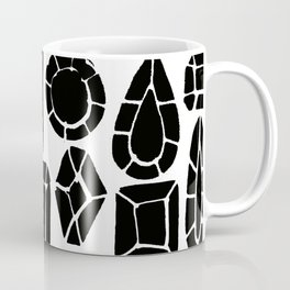 gemstone black and white Coffee Mug