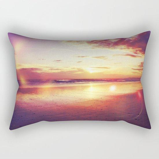 Tropical sunset on a calm beach Rectangular Pillow