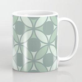 Geometric Orbital Spot Circles - Sage Green Coffee Mug