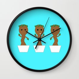Dancing Baby Groot Wall Clock
