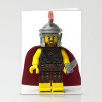 gladiator Stationery Cards featuring Roman gladiator Minifig by Jarod Pulo