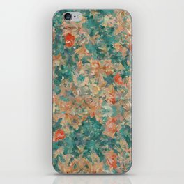 Study in Teal and Peach iPhone Skin