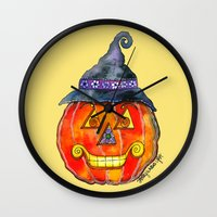 jack Wall Clocks featuring Jack by Shelley Ylst Art