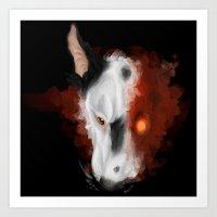 Cyborg Terrier Art Print