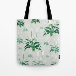 peace lily painting Tote Bag