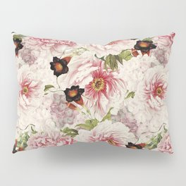 Small Vintage Peony and Ipomea Pattern - Smelling Dreams Pillow Sham