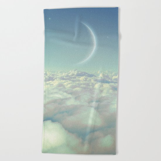 Dream Above The Clouds Beach Towel
