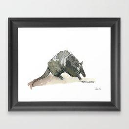 armadillo! Framed Art Print