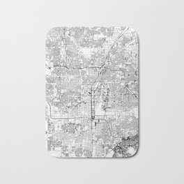 Las Vegas White Map Bath Mat