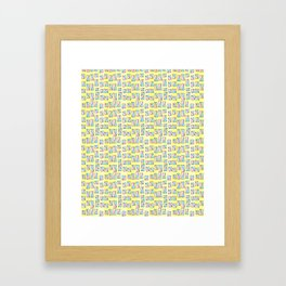 rectangle and abstraction-mutlicolor,abstraction,abstract,fun,rectangle,square,rectangled,geometric, Framed Art Print