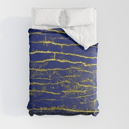 Stone Blue Yellow Comforters